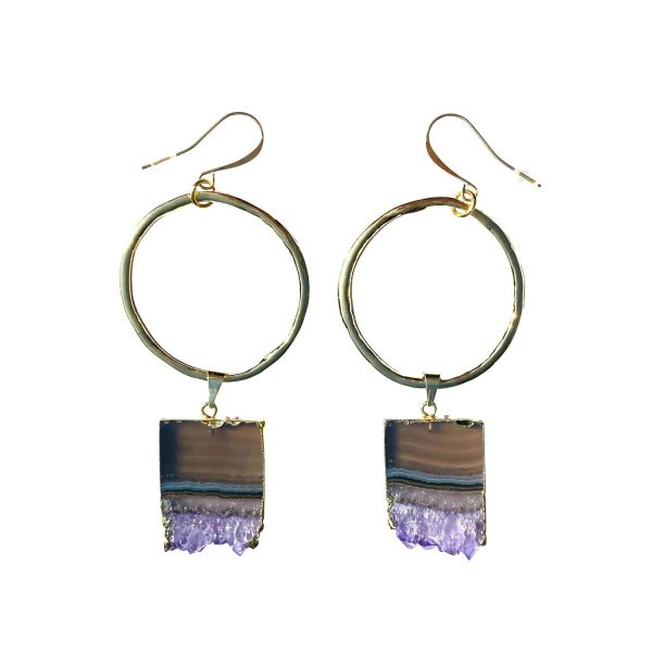Celestial Soul Amethyst Earrings by Tiana Jewel