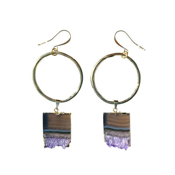 Celestial Soul Amethyst Earrings by Tiana Jewel