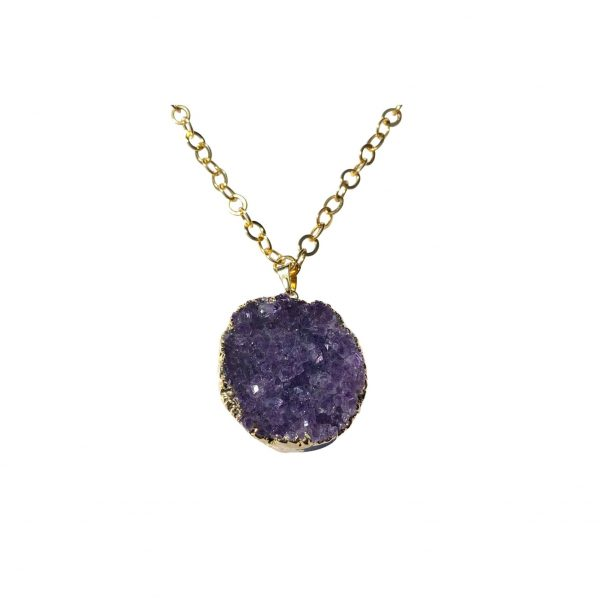 Celestial Soul Amethyst Cluster Necklace by Tiana Jewel