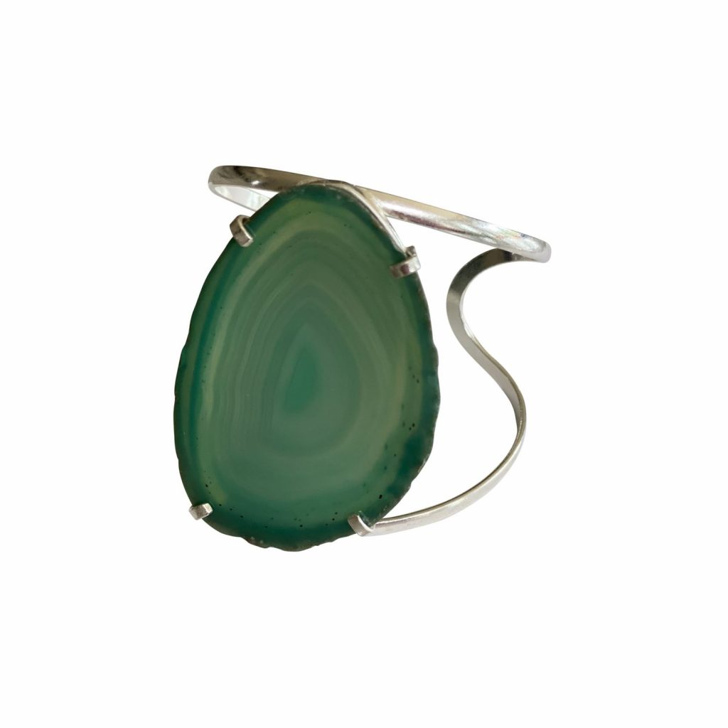 Guardian Angel Green Agate Cuff by Tiana Jewel