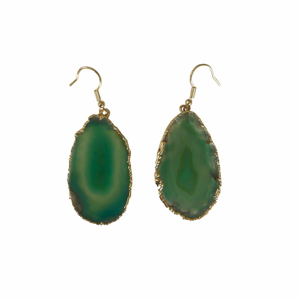 Guardian Angel Green Agate Earrings by Tiana Jewel