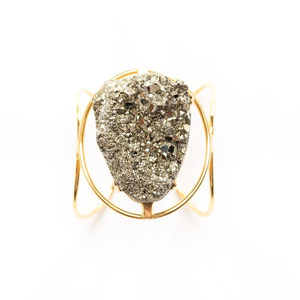 Hearts of Fire Pyrite Cuff by Tiana Jewel