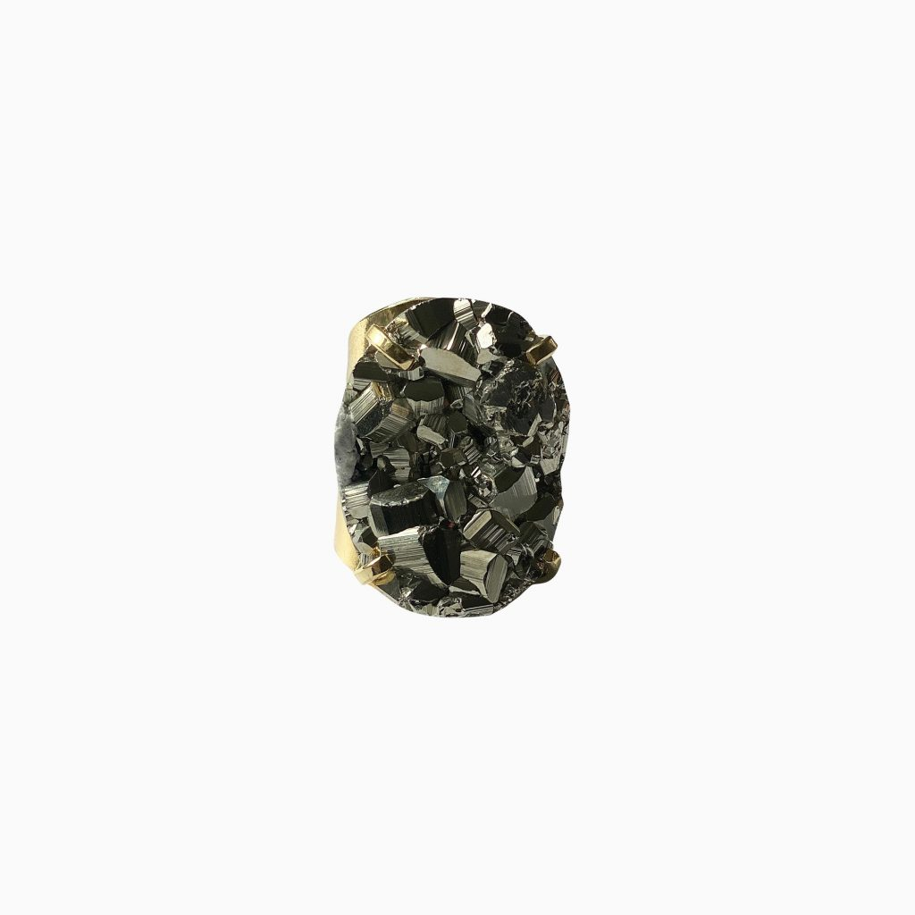 Hearts of Fire Pyrite Gemstone Ring by Tiana Jewel