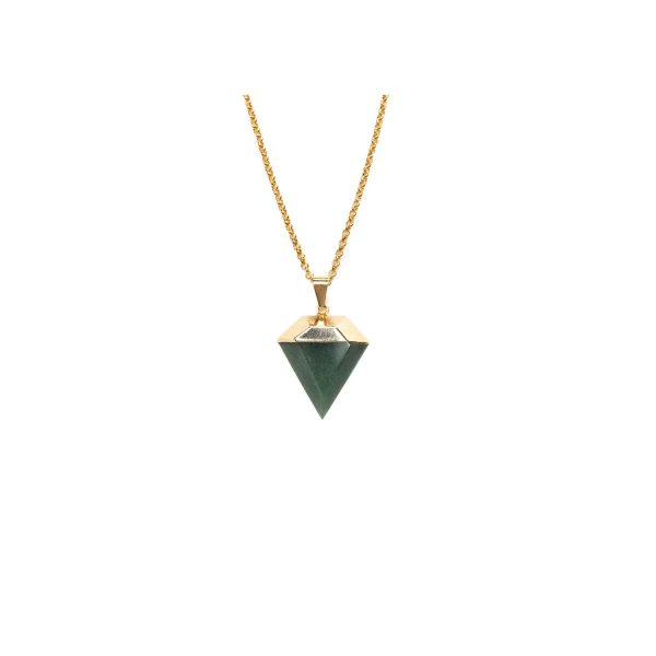 Love Yourself Mini Green Quartz Gemstone Necklace by Tiana Jewel