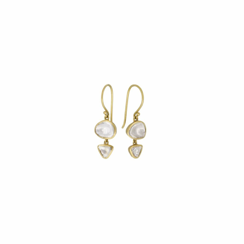 Double Polki Earrings by Sophie Theakston