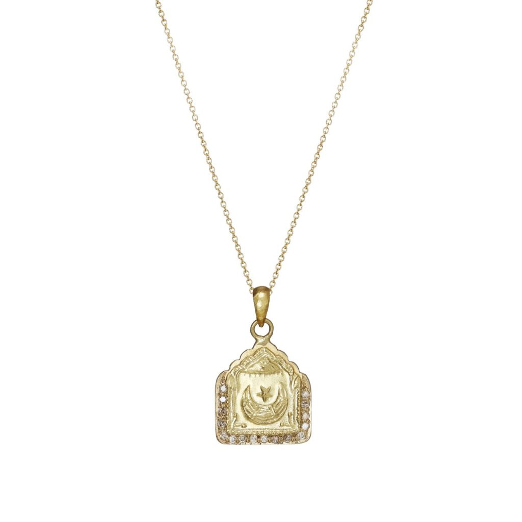 Star and Moon Diamond Amulet Necklace by Sophie Theakston