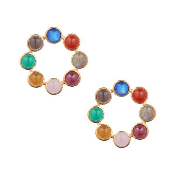 Jaipur Wheel Earrings by Donatella Balsamo