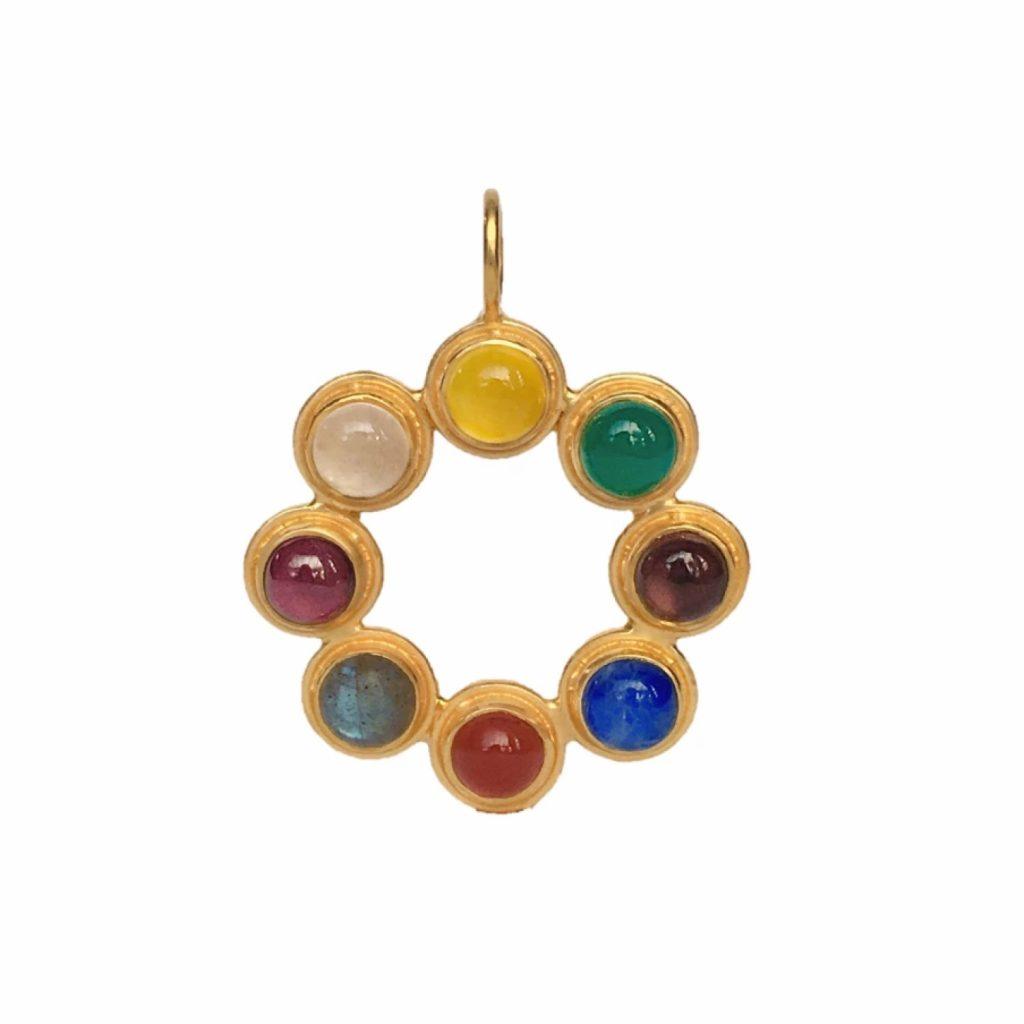 Jaipur Wheel Pendant by Donatella Balsamo