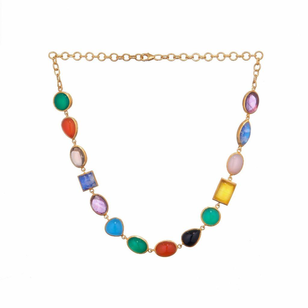 Jaipur Multi-Stone Necklace by Donatella Balsamo