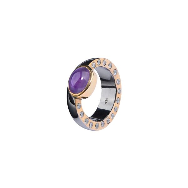 Saigon Round Dusk Ring by Donatella Balsamo