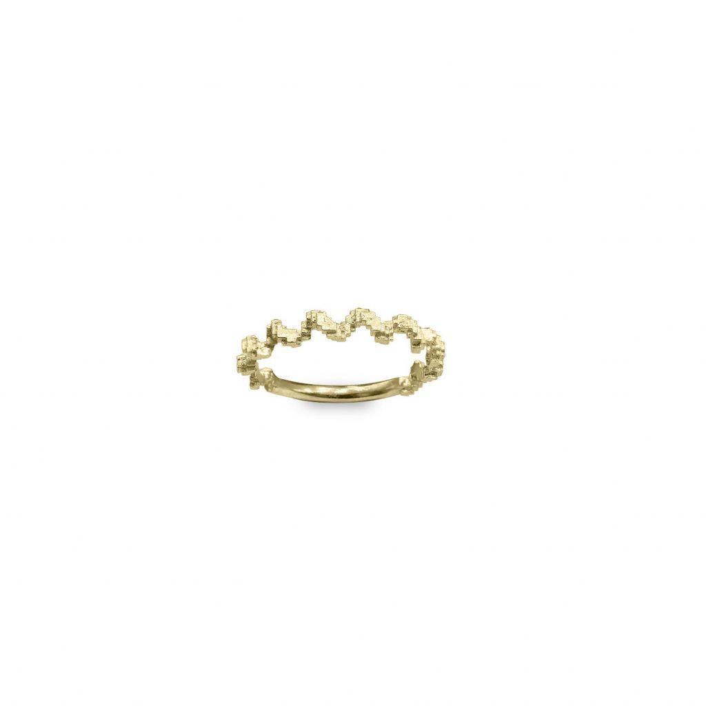 Glitch Twist Ring by Harriet Morris