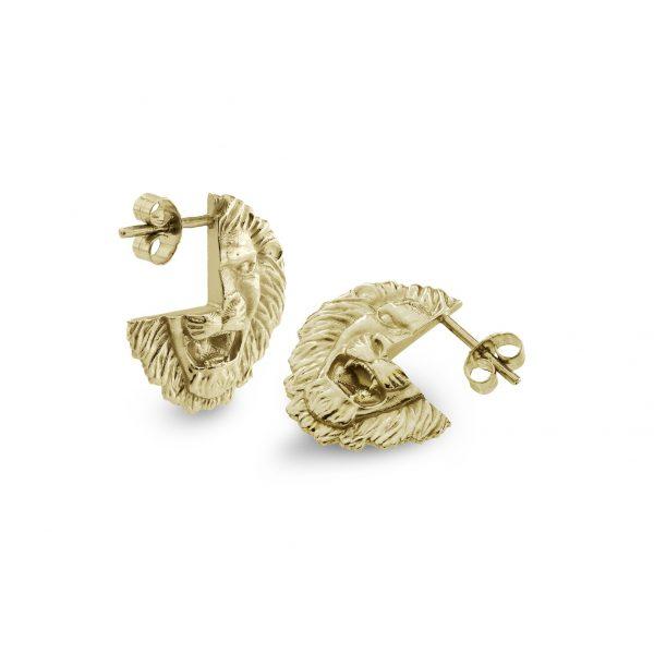 Lion Stud Earrings by Harriet Morris