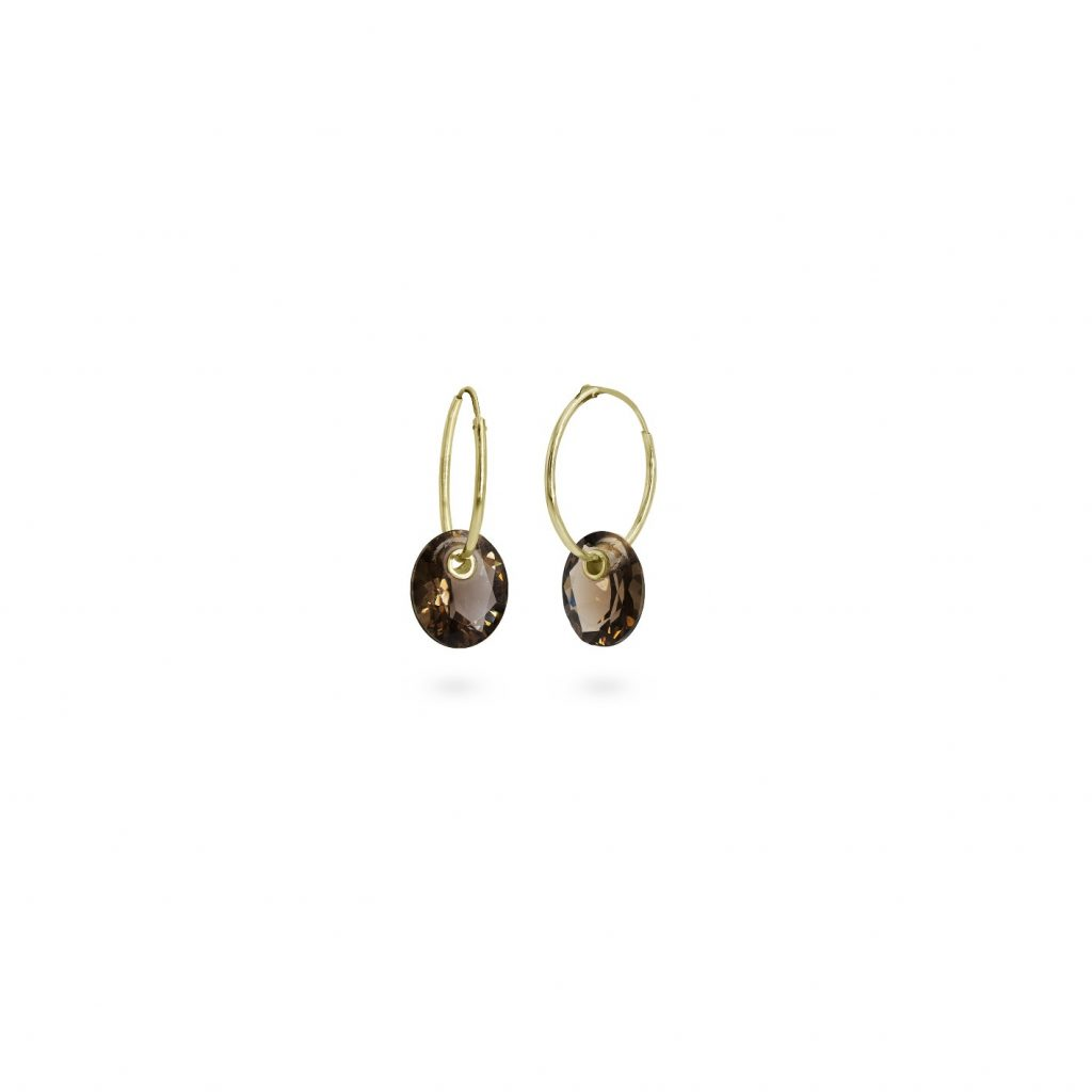 Pierced Gem Hoop Earrings by Harriet Morris