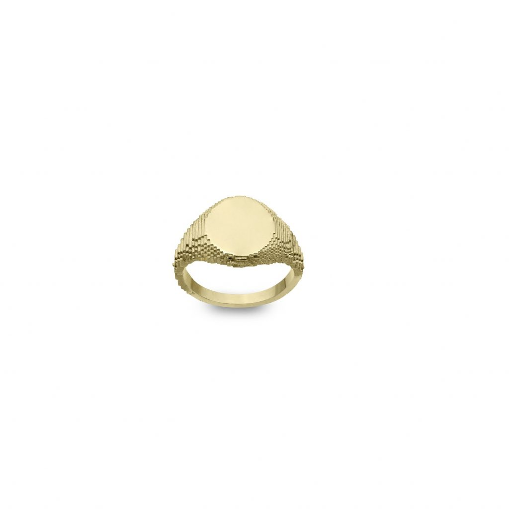 Signet Glitch Ring by Harriet Morris