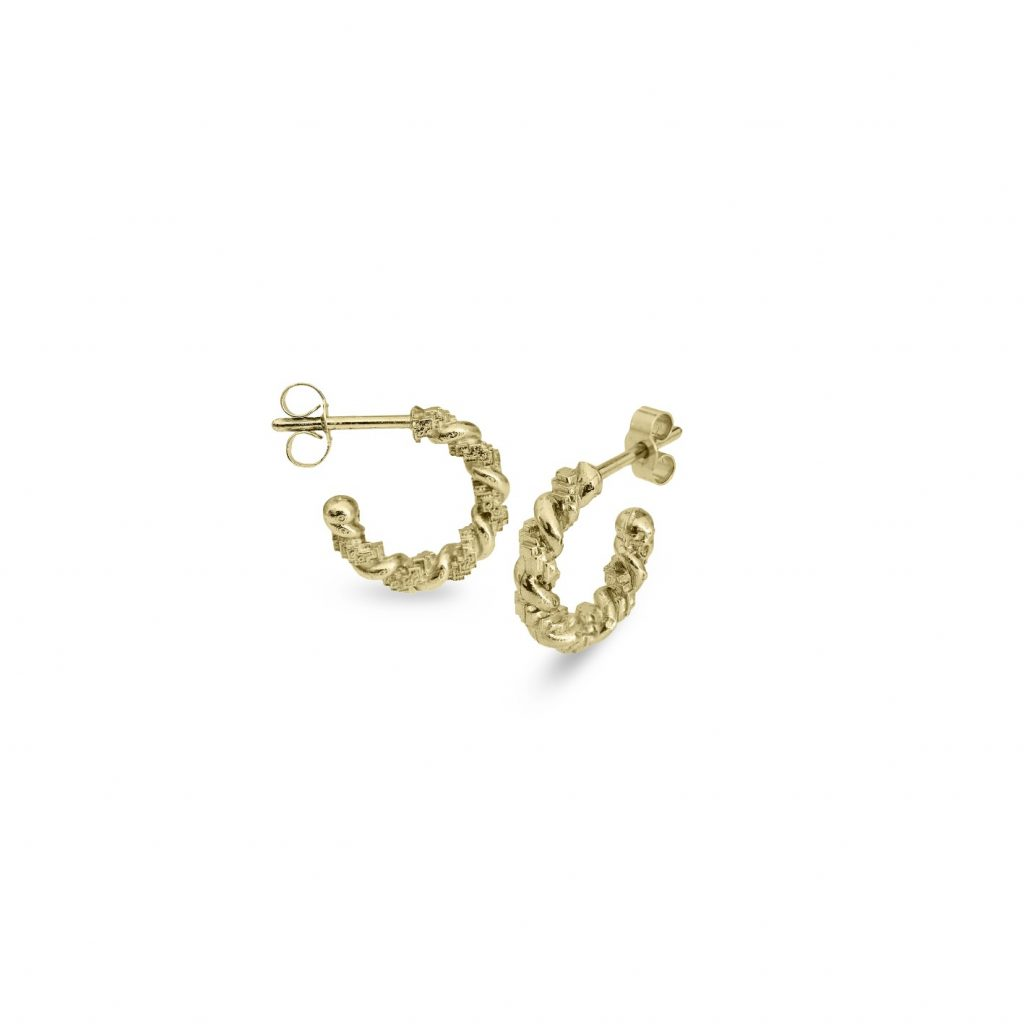 Twist Hoop Earrings by Harriet Morris