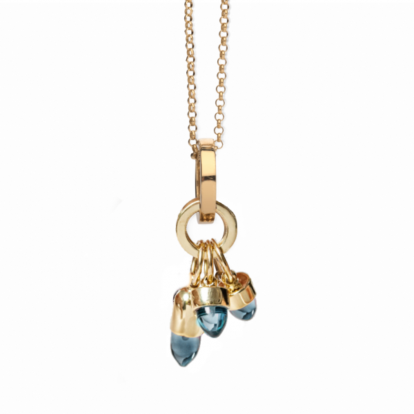 Skopelos Charm Necklace London Blue Quartz by Maviada