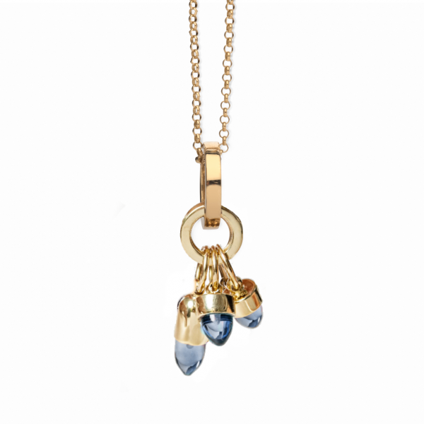 Skopelos Charm Necklace Tanzanite Blue Quartz by Maviada