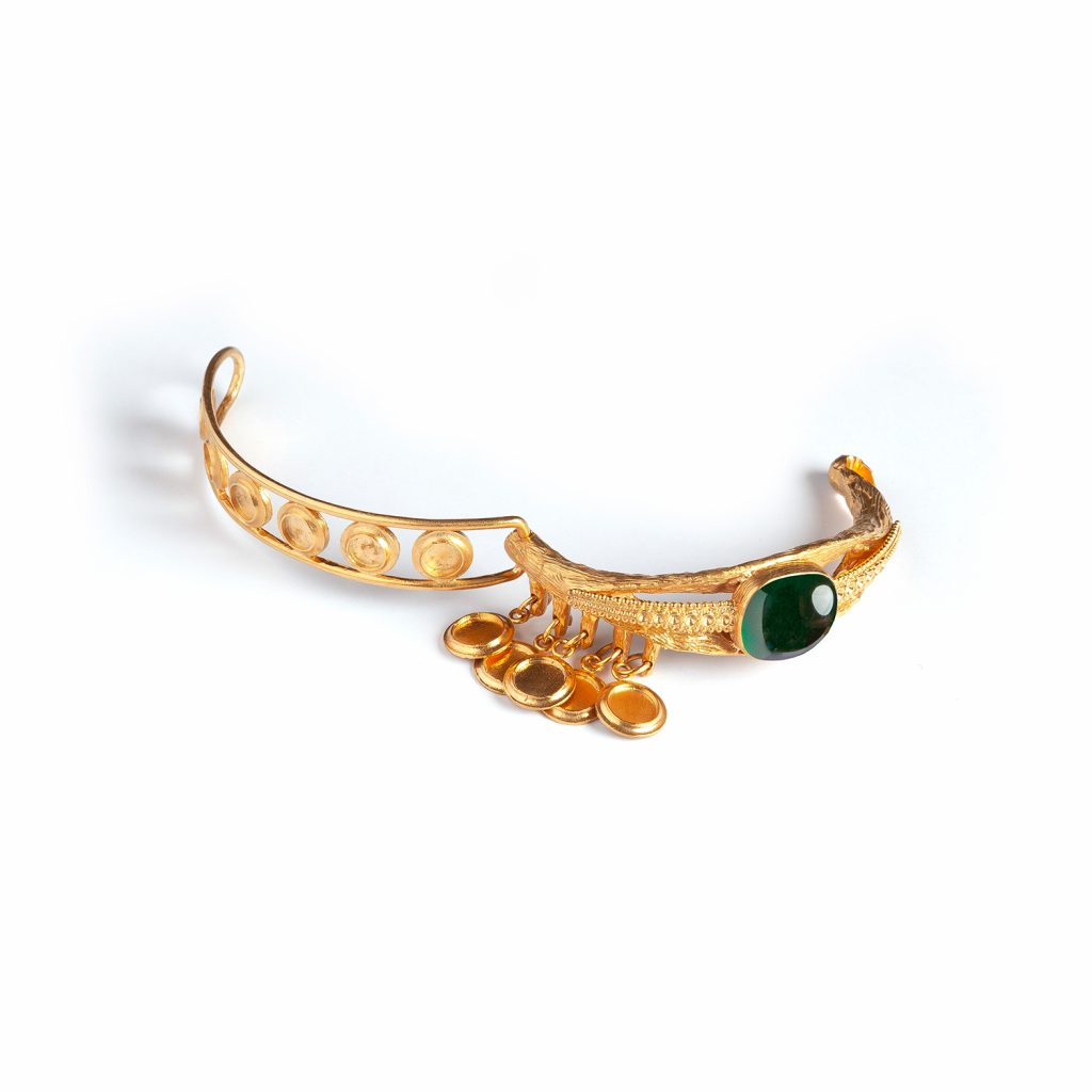 Eye Emerald Bracelet by Sonia Petroff