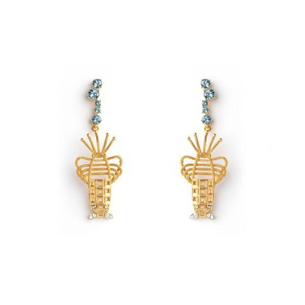 Lobster Earrings by Sonia Petroff