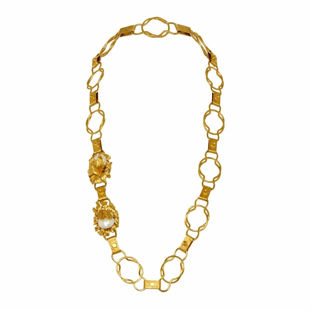 Moon Flower Belt / Necklace in Gold by Sonia Petroff