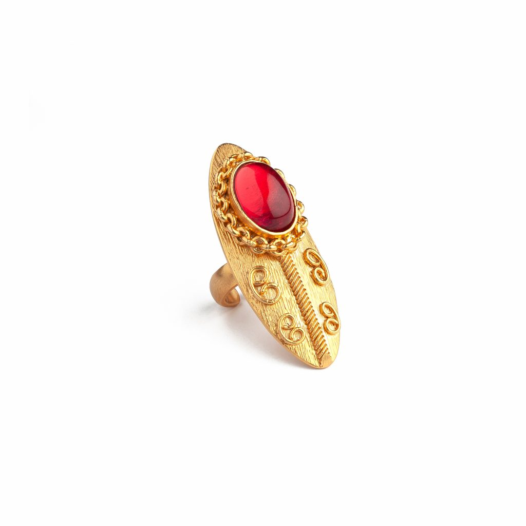 Shield Ruby Ring by Sonia Petroff