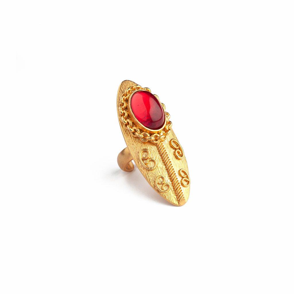Shield Ruby Ring by Sonia Petroff