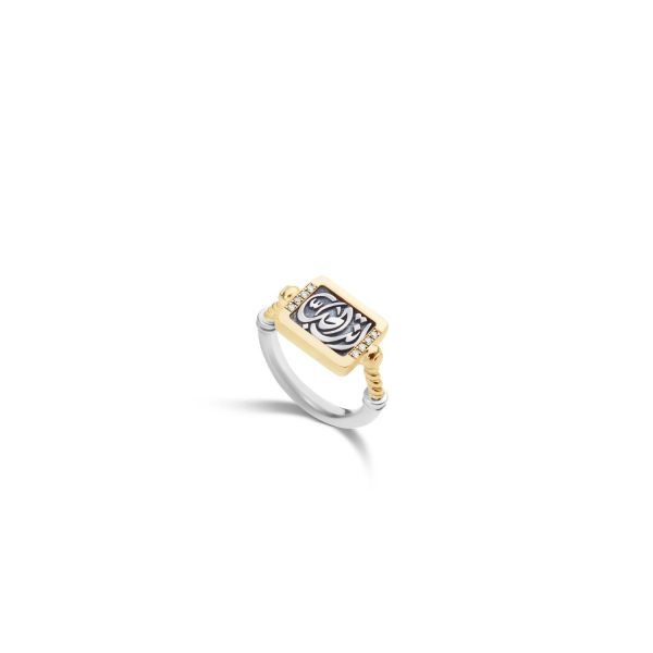 Chevalier Love Ring by Azza Fahmy