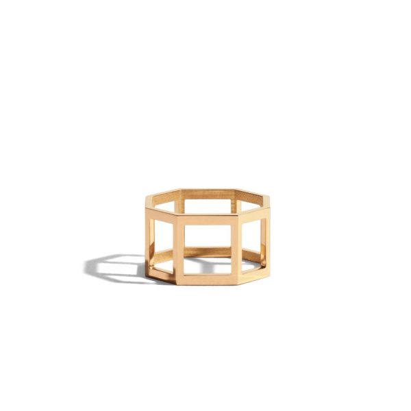 Octogone Structured Plain Ring by Jem