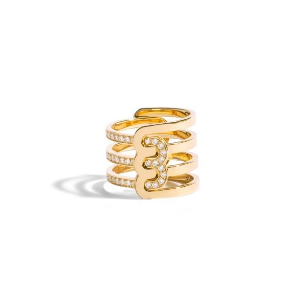 Étreintes Statement Triple Ring by Jem