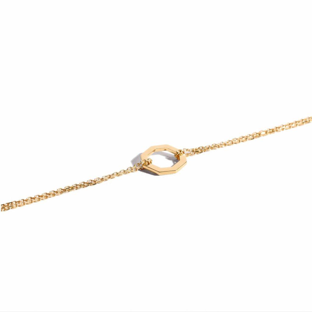 Le Petit Octogone Bracelet Yellow Gold by Jem