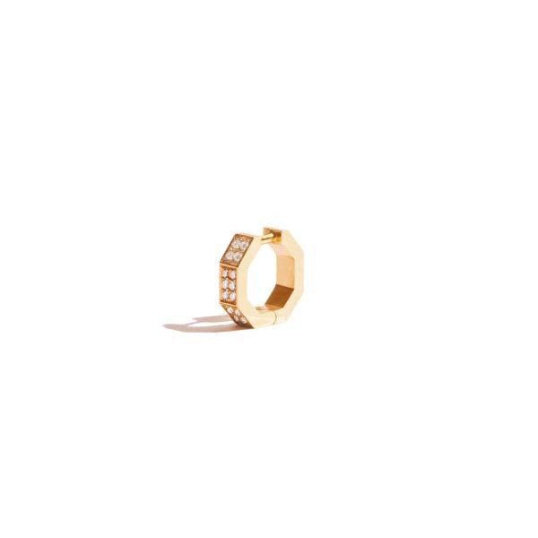 Octogone Earring Yellow Gold by Jem