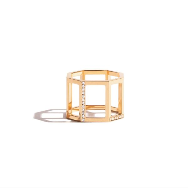 Octogone Structured Ring by Jem
