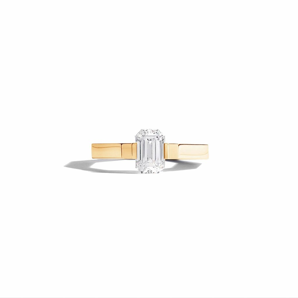 Octogon Solitaire Ring by Jem