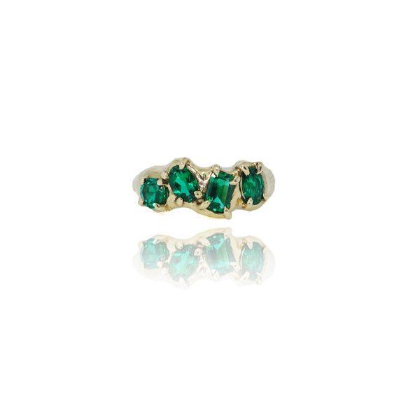 Lab Emerald Multiset Ring by Susannah King