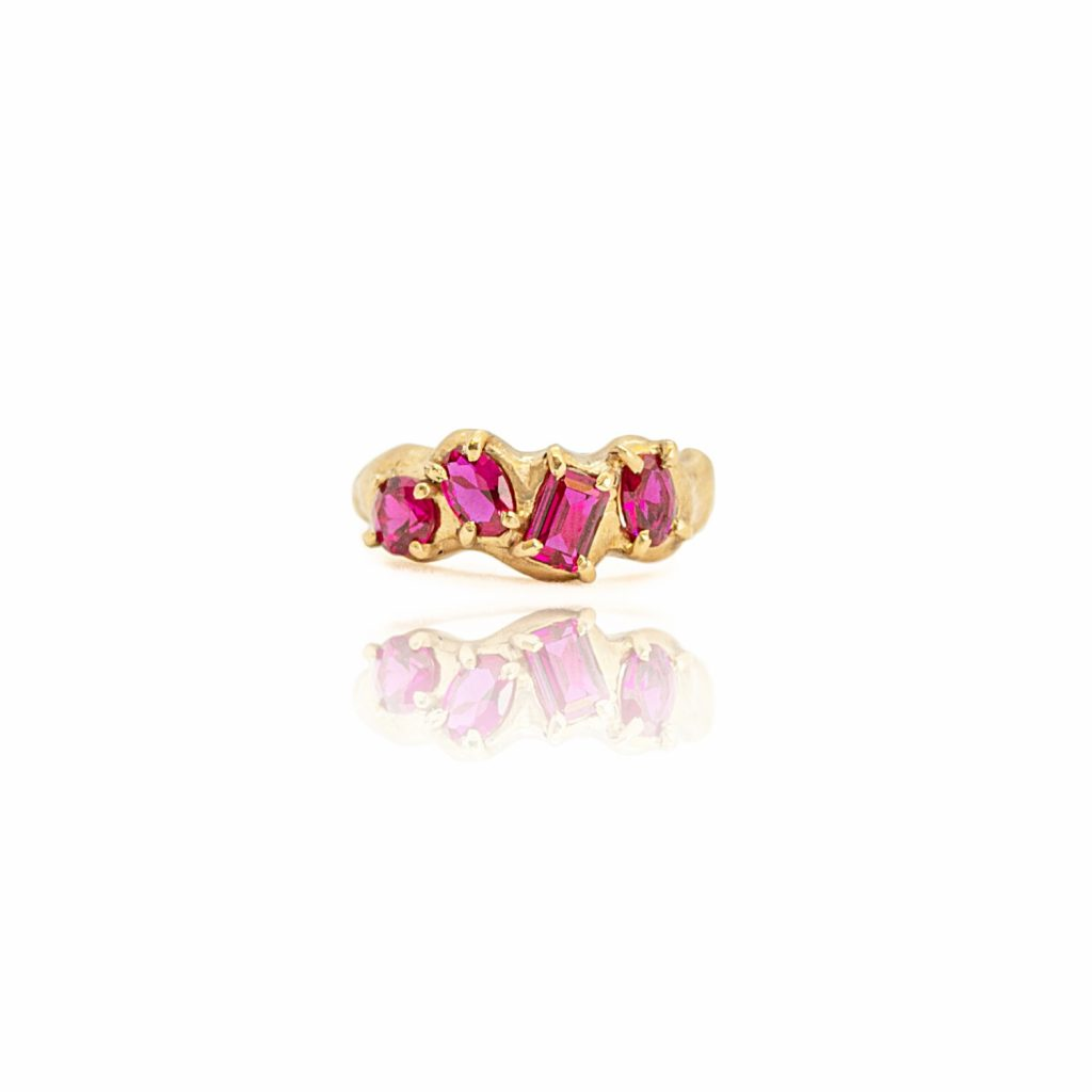 Lab Ruby Multiset Ring by Susannah King
