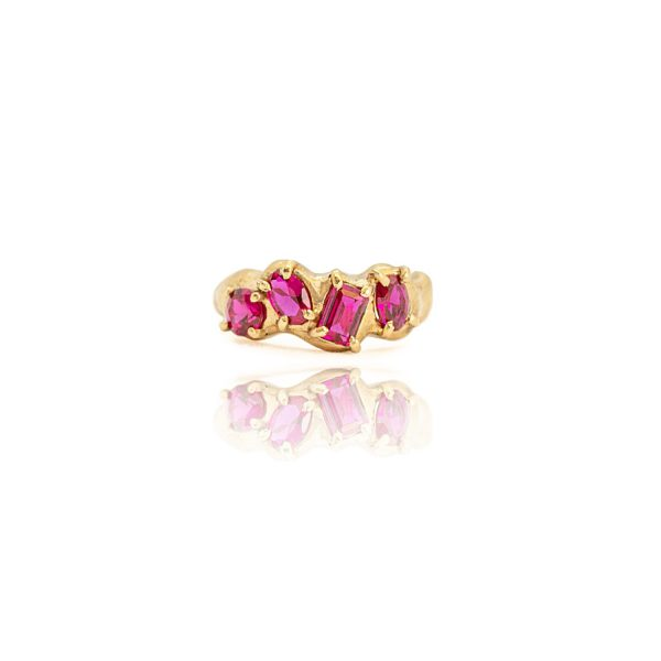 Lab Ruby Multiset Ring by Susannah King