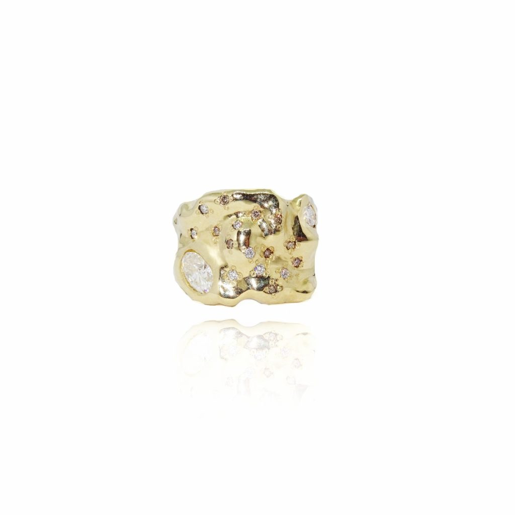 Moissanite Statement Ring by Susannah King