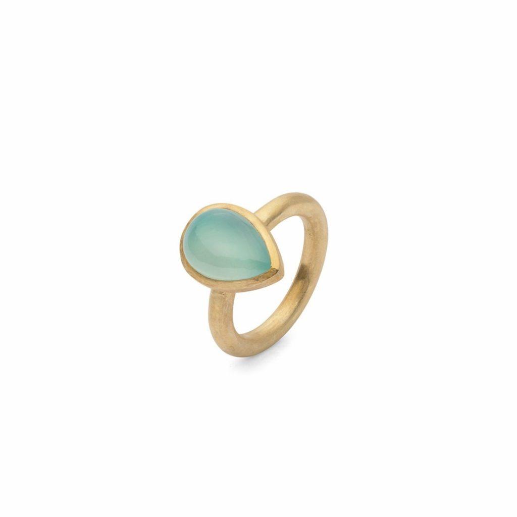 Jaipur Blue Cabochon Stacking Ring by Donatella Balsamo