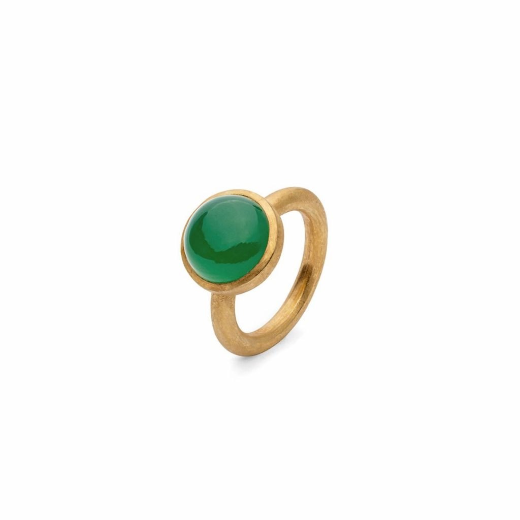 Jaipur Green Onyx Stacking Ring by Donatella Balsamo