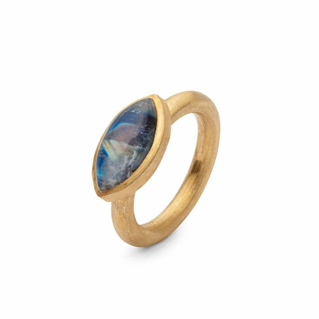 Jaipur Moonstone Stacking Ring by Donatella Balsamo