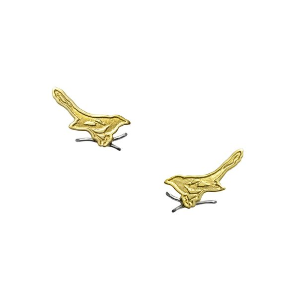 Fairtrade Gold Magpie Stud Earrings by Julia Thompson