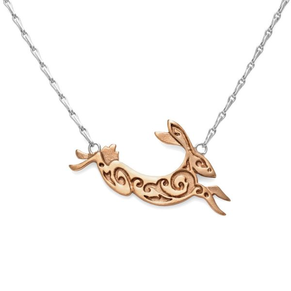 Fairtrade Rose Gold Hare Necklace by Julia Thompson