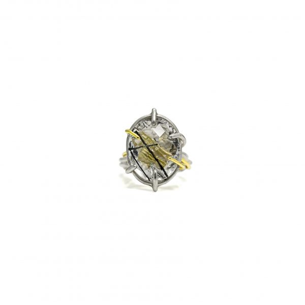Tourmalated Quartz Nest Ring by Julia Thompson