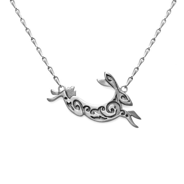 Silver Hare Necklace by Julia Thompson