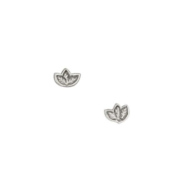 Silver Leaf Stud Earrings by Julia Thompson