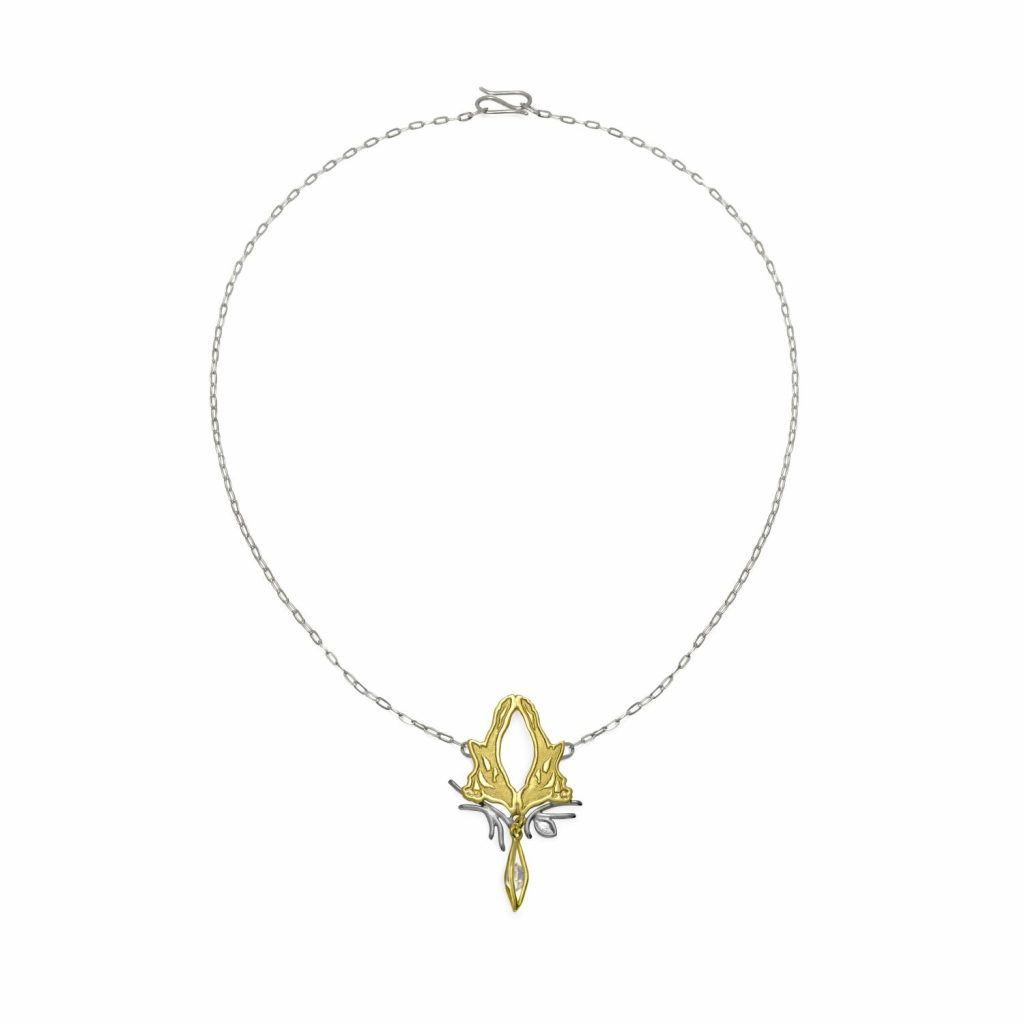 Fairtrade Gold Magpie Herkimer Necklace by Julia Thompson