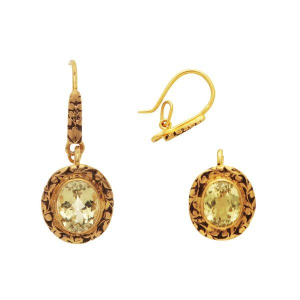 3 in 1 Topaz Earrings/Pendant by Kastur Jewels