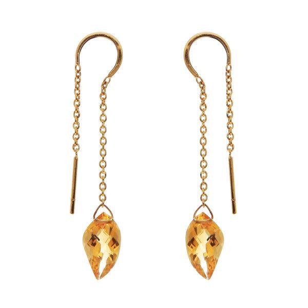 Elegant Citrine Earrings by Kastur Jewels
