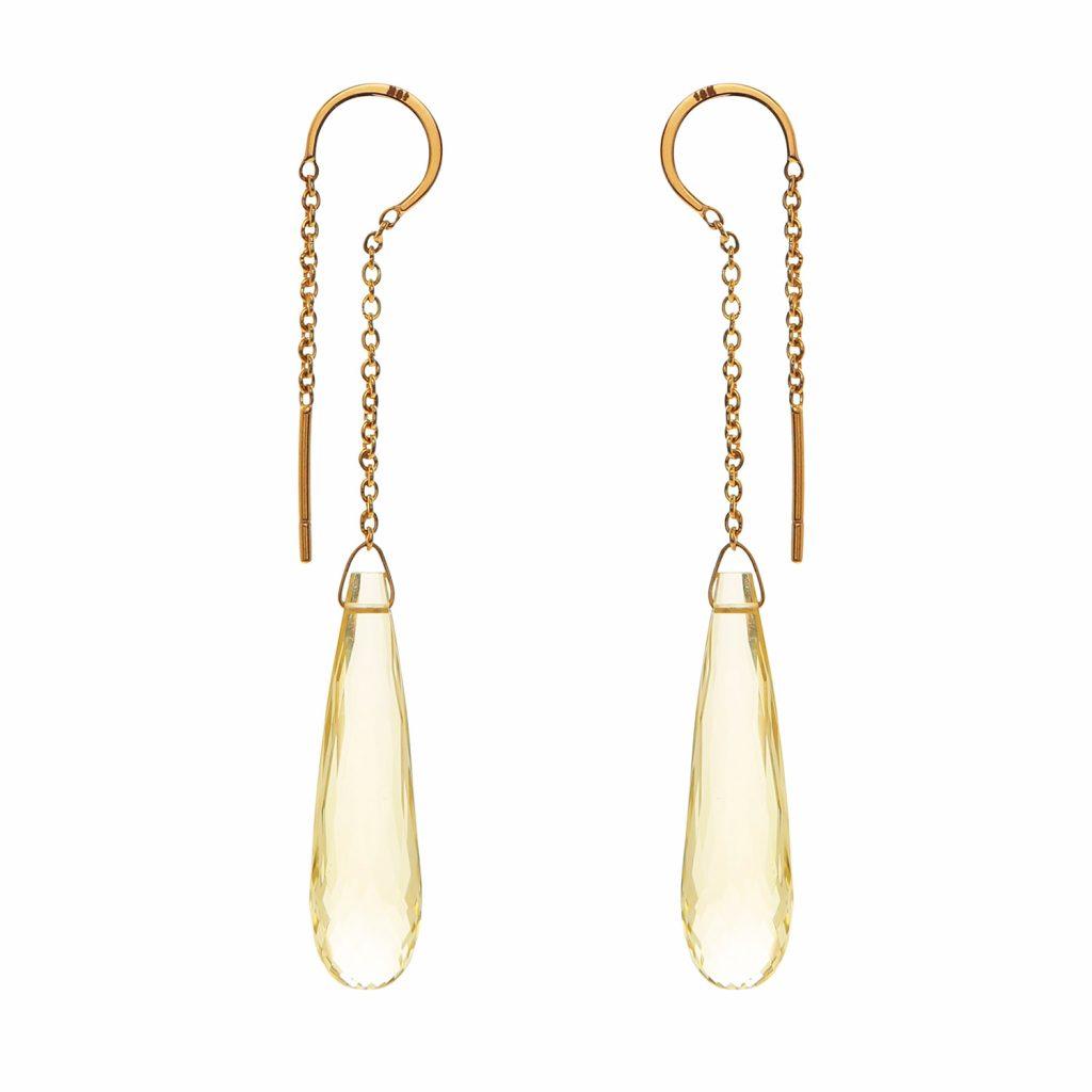 Elegant Topaz Drop Earrings by Kastur Jewels