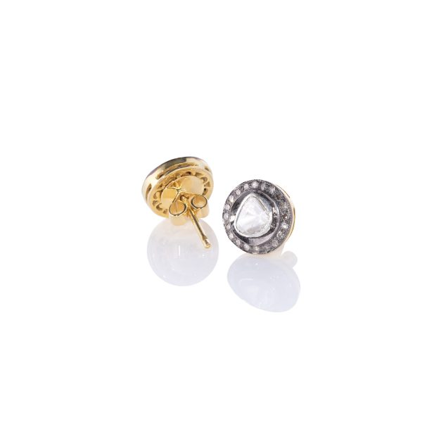 Heritage Gold Diamond Stud Earrings by Kastur Jewels